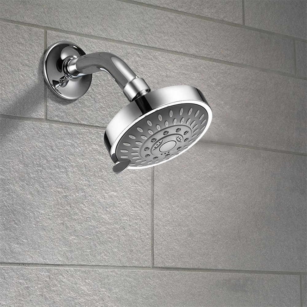 Shower Head High Pressure 4 Inch 5 Setting Adjustable Shower Head Rainfall Rain Shower Head Bathroom Powerful Shower Head L4 Shower Heads Aliexpress