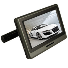 2016 High-end 9 Inch Car Monitor Headrest DVD Player With 800×480 Screen Built-in Speaker Support SD FM IR Games Remote Control