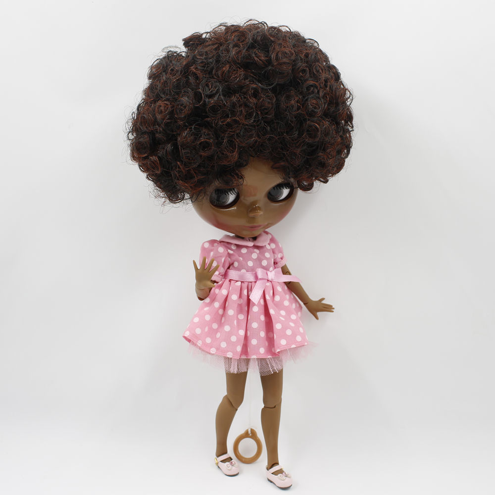 ICY Nude Blyth doll No BL9103 0362 Brown mix Wine Red curly hair JOINT body Super