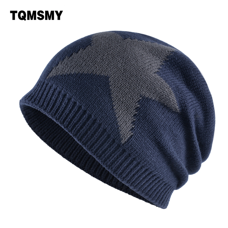 Unisex beanies women knitted wool Skullies Five-pointed star caps Plus velvet warm bone Hip Hop cap winter hats for men gorros hot sale winter cap women knitted wool beanie caps men bone skullies women warm beanies hats unisex casual hat gorro feminino