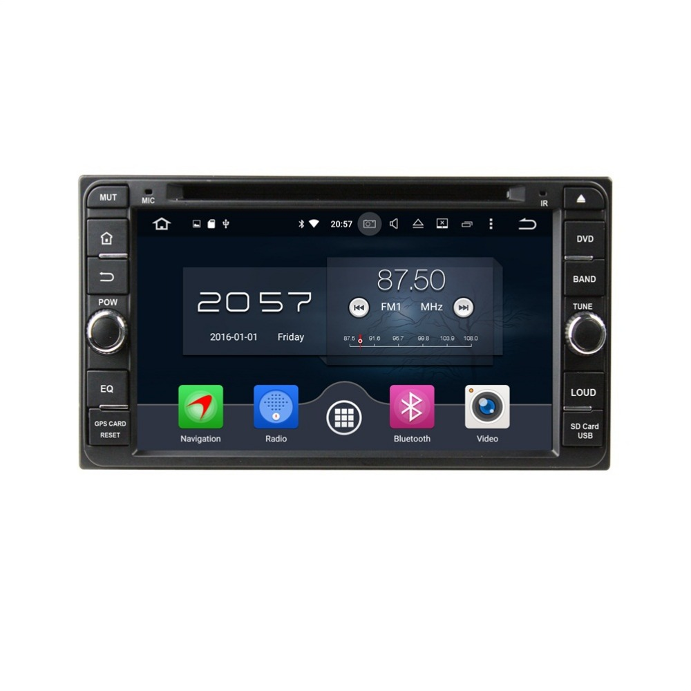 4GB RAM Octa Core 2 din 6.95 Android 6.0 Universal Car DVD Player for toyota Corolla RAV4 Hilux Fortuner Land Cruiser