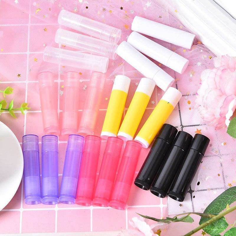 10pcs/lot 5g Lipstick Tubes Candy Colors Lip Tubes Containers Transparent Empty Plastic Lip Balm Tubes Lipstick Case