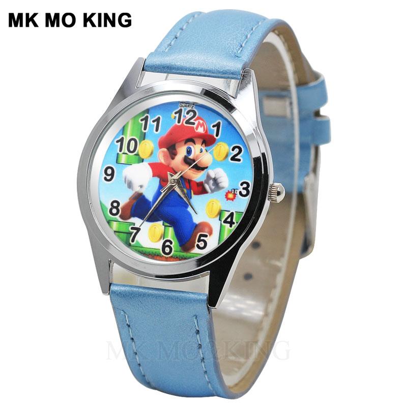 Luxury Super Mary Cartoon Cute Fashion Student Game Watches Children's Boys Girls Kids Quartz Wrist Watch Clock Gifts Relogio