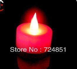 Sales promotion!!Free shipping! 30pcs/lot  thioindigo red candle small night light wedding red candle lamp large wedding LED