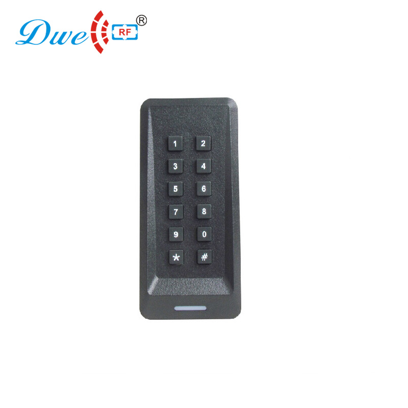 DWE CC RF card readers access control keypad MF 13.56 kHz RFID card reader with wiegand protol WG26 / 34 dwe cc rf rfid gate reader 13 56mhz 12v black water proof access control card readers with wiegand 34