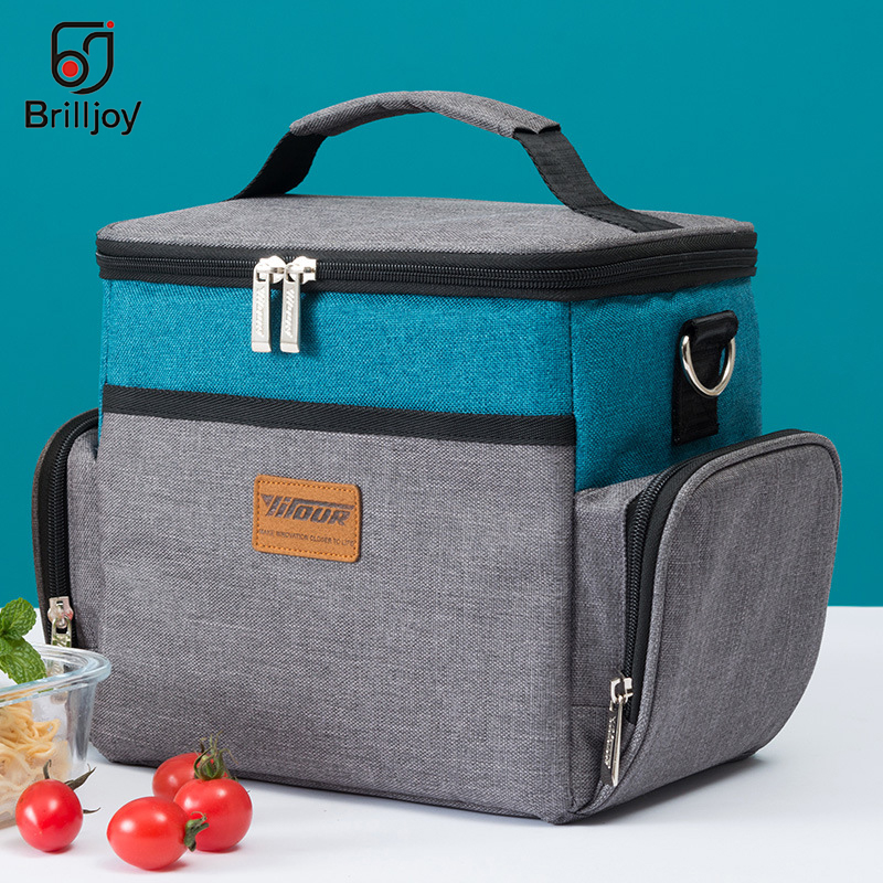 лучшая цена New Oxford cloth aluminum foil Thickening Cooler Bag Ice Pack Insulated Lunch Bag Cold Storage Bags Fresh Food Picnic Container