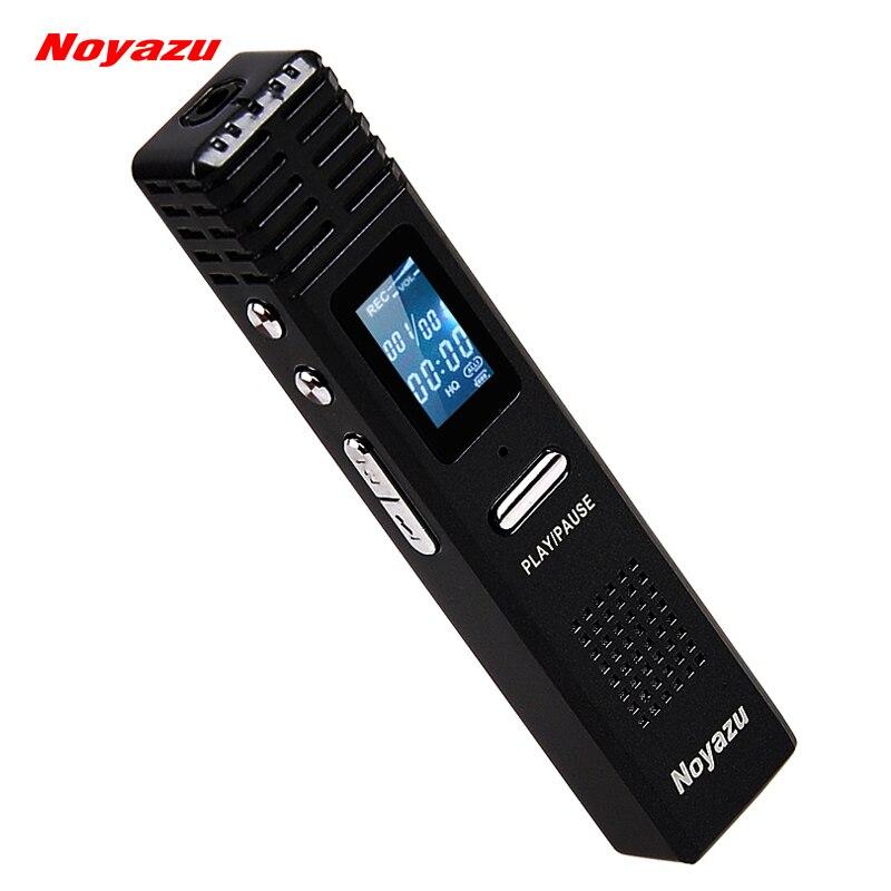 Noyazu D'origine X1 8G Enregistreur Vocal Numérique 550 heures Capacité MP3 Lecteur Audio D'origine Professionnel Dictaphone Cadeau espia