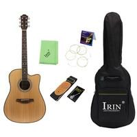 Новый палисандр народная гитара 41 Акустическая гитара ель (гитара + сумка для гитары + тюнер + капо + ремень + Струны + ткань) струнная Instrumen
