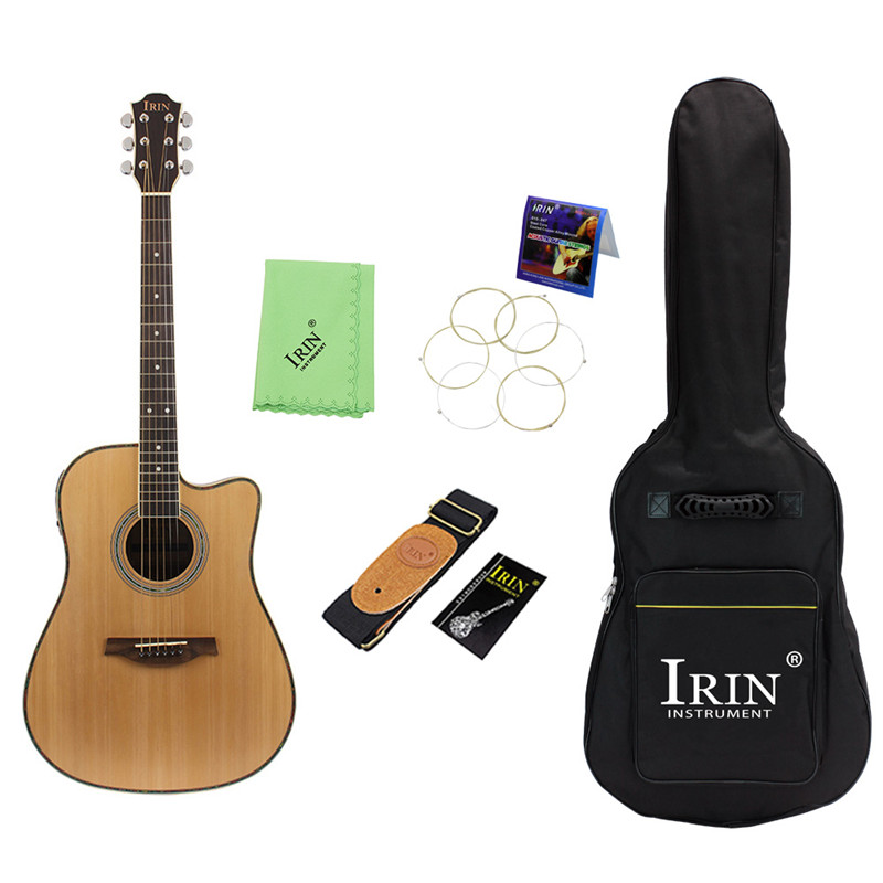 New Rosewood Folk Guitar 41  Acoustic Guitar Spruce (Guitar+Guitar Bag+Tuner+Capo+Strap+Strings+Cloth) Stringed Instrumen guitar rolling capo greg bennett design glider capo slides up