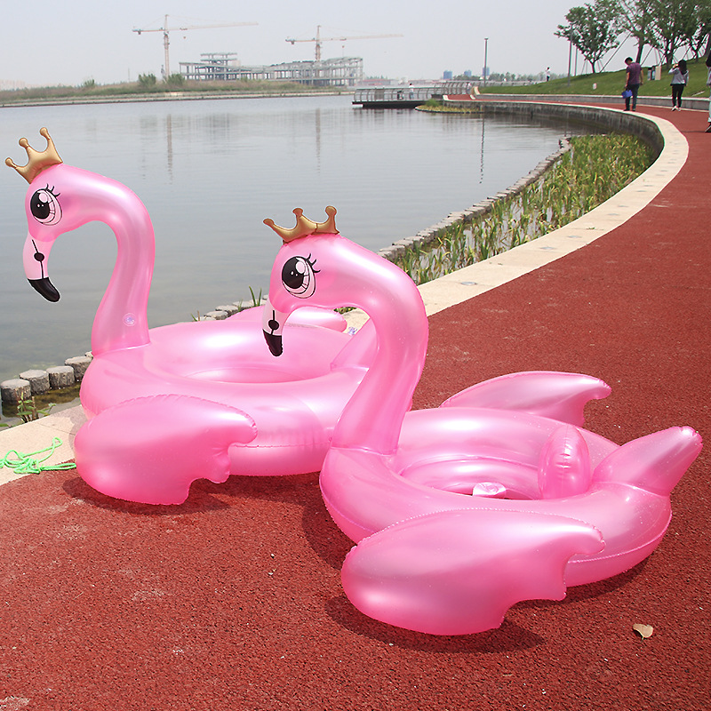 Giant Inflatable Flamingo An crown Swimming Ring Pool Float Swimming Ring Water Holiday Party Toys Piscina