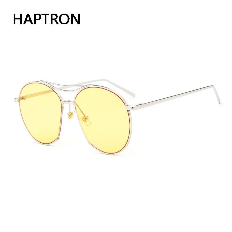 HAPTRON vintage yellow lens Clear sunglasses Women Bang glasses ...