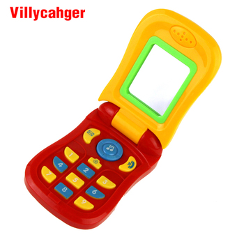 6 Types Kids Smart Phone Toy with Sound & Flash Light Electronic Mobile Phone Cellphone Toys Early Educational Musical Toys Gift toys for 2 month old