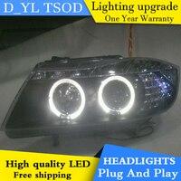 D_YL Car Styling for BMW E90 Headlights 2007 2011 E90 LED Headlight DRL Bi Xenon Lens High Low Beam Parking HID Fog Lamp