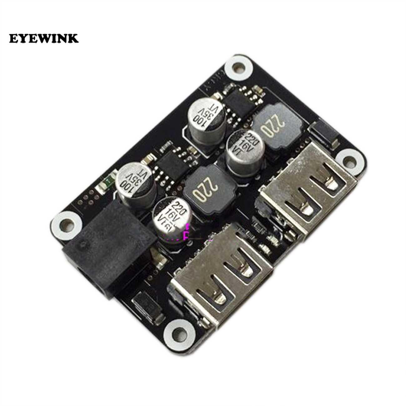 Double 2 Double USB chargeur rapide Buck Module entrée 6 V-30 V simple Port 24W Support QC2.0 QC3.0 QC 2.0 3.0 voiture véhicule conseil