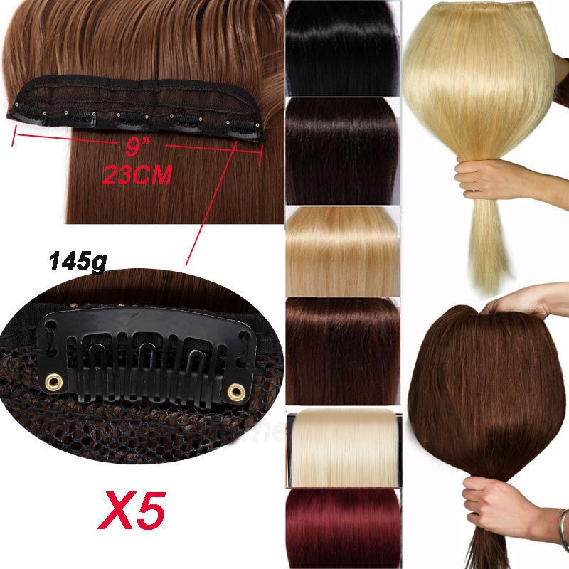 Snoilite 29inch Wavy 5 Clip Ins Hair Extensions Synthetic Natural