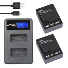AOPULY 2Pcs ADHBT 301 AHDBT 302 Battery LCD USB Dual Charger for GoPro Hero3 HERO3 Camera