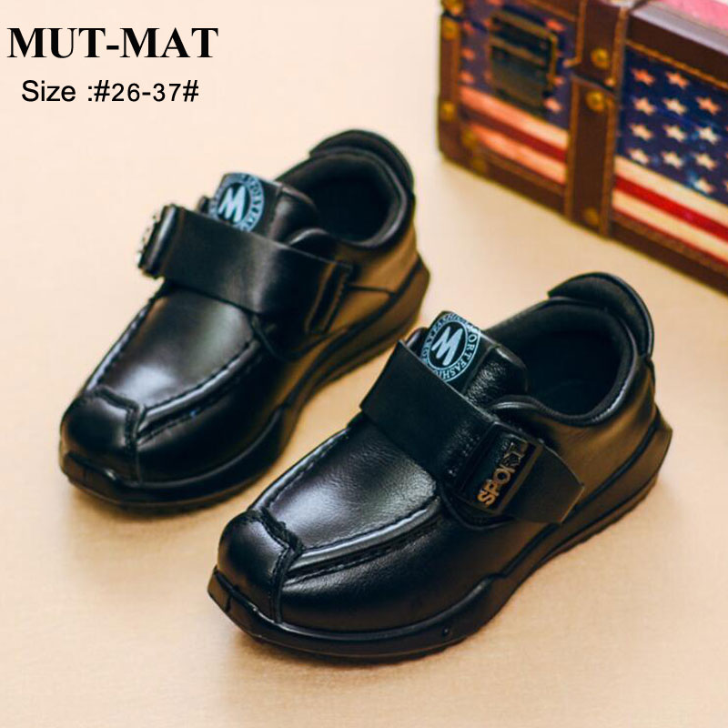 Kid Shoes Children Shoes  Boy's Fashion Stage Shoes Metal Button Soft Bottom  Casual Shoes Pure Color Design