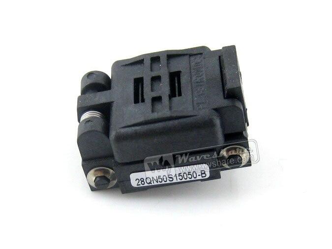 28QN50K15050 28QN50S15050 Plastronics IC Test Socket 0.5mm Pitch QFN28 MLP28 MLF28 package цена 2017