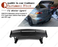 Car Accessories FRP Fiber Glass VTX Type5 Style 1500mm Rear Spoiler Fit For 2008 2012 Evolution X EVO 10 Trunk GT Wing