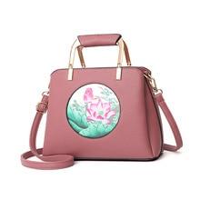 Patchwork PU Leather Handbags Women Tote Luxury Brand Female Shoulder Bags Famous Designers Ladies Top-Handle Bags 2018