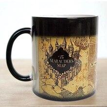 Freies verschiffen! 1 Stücke Harry Potter Marauders Map Magie Heiß Kalt Wärme Temperaturempfindliche Farbwechsel Kaffee Tee milch Becher Tasse