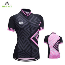 ZEROBIKE High Quality Women's Cycling Jersey Short Sleeve Shirt Sports MTB Bike Tops Clothing Hot Sale US Size S-XL Ciclismo