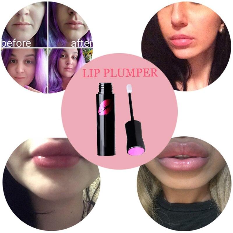 LANBENA  4ml Collagen Lip Plumping Gloss Moisturizer Lip Skin Care Essence Anti Aging Anti-Wrinkle Lip Plumper Liquid Serum