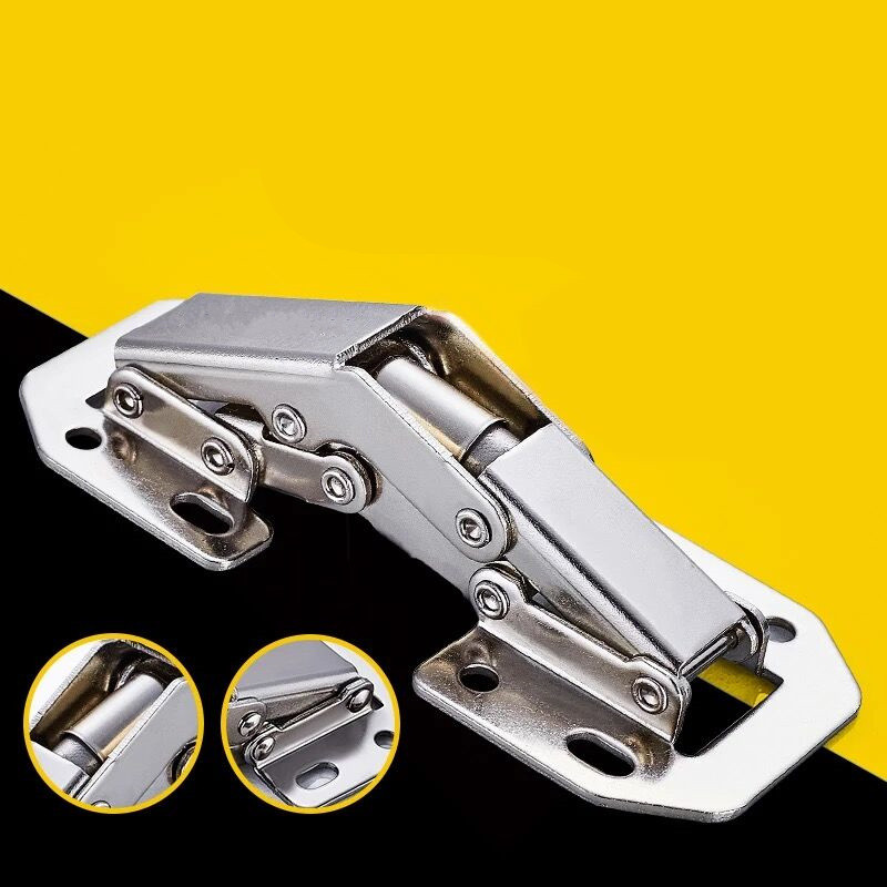 High quality 3 inch / 4 inch cabinet door hinge hinge cold - rolled steel spring hinge hardware doors and windows accessories white plastic steel folding glass door hinge buffer flat windows shutters hinge for furniture hardware accessories