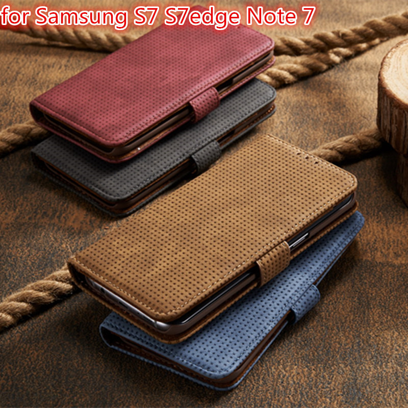 bilder für Brieftasche Leder etui für Samsung Galaxy S7 S7 kanten Phone Coque Abdeckung Für Samsung-anmerkung 7 prime Flip Fällen Capa Fundas Gel