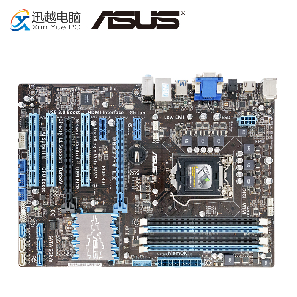 Asus P8Z77-V LX Desktop Motherboard Z77 Socket LGA 1155 i3 i5 i7 DDR3 32g SATA3 USB3.0 ATX