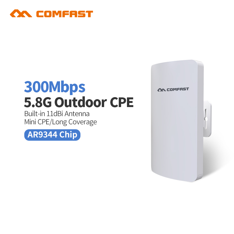 Comfast High Power Outdoor Wifi Repeater 300Mbps 25.8G Wireless Wifi Router 11dbi Antennas PoE Wi-fi Bridge extender CF-E120A