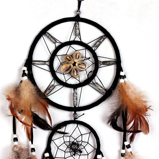 Indian Brown Feather Dream Catcher
