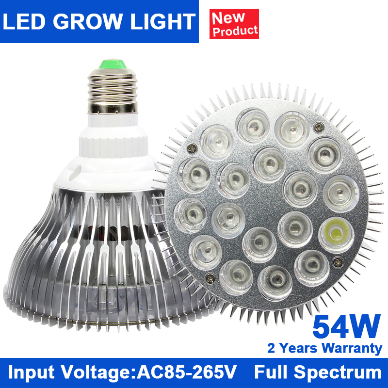 KINDOMLED 10pcs LED Aquarium Growing Lighting for Tropical Fish Saltwater Fish Coral Reef E27 54W Grow lights spectrum led