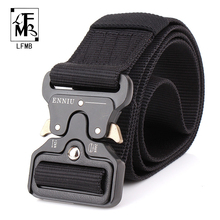 ФОТО [lfmb]mens tactical belt military nylon belt outdoor multifunctional training belt combat belts high quality strap ceintures
