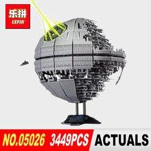 Лепин 05026 STAR classic Death Star второго поколения 3449 шт. Building Block кирпичи игрушечные лошадки Модель Совместимость legoed 10143 войны
