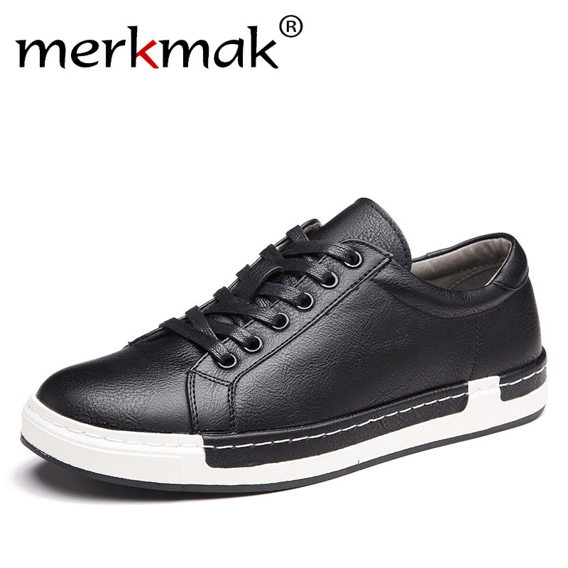 Merkmak Handmade Men Shoes Brand Casual Shoes Solid Lace-up Retro Breathable Shoes Microfiber Leather Flats Shoes Mens Footwear real autumn winter shoes men genuine leather lace up mens casual handmade fashion luxury brand flat breathable flats male shoe
