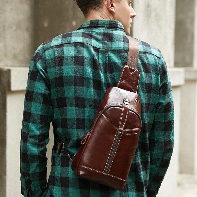 Акция, Новое поступление 2019, модная кожаная нагрудная брендовая мужская сумка на плечо, модная сумка на молнии из коровьей кожи, мужская сум