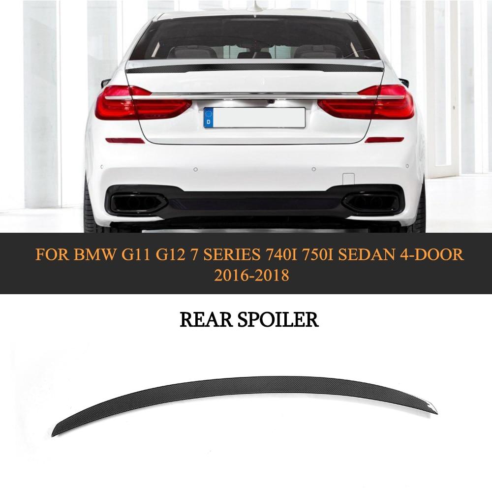Carbon Fiber Racing Rear Spoiler Wing Lip MP Style for BMW G11 G12 7 Series 740i 750i Sedan 2016-2018 carbon fiber rear spoiler wing tail lip for bmw f01 f02 f03 f04 7 series sedan 740i 750i 2010 2015