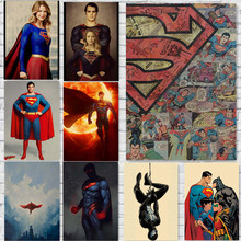 Pósteres de Superman, cómics impresos, decoración de pared Vintage para el hogar, papel Kraft, arte para el hogar, marca MO39