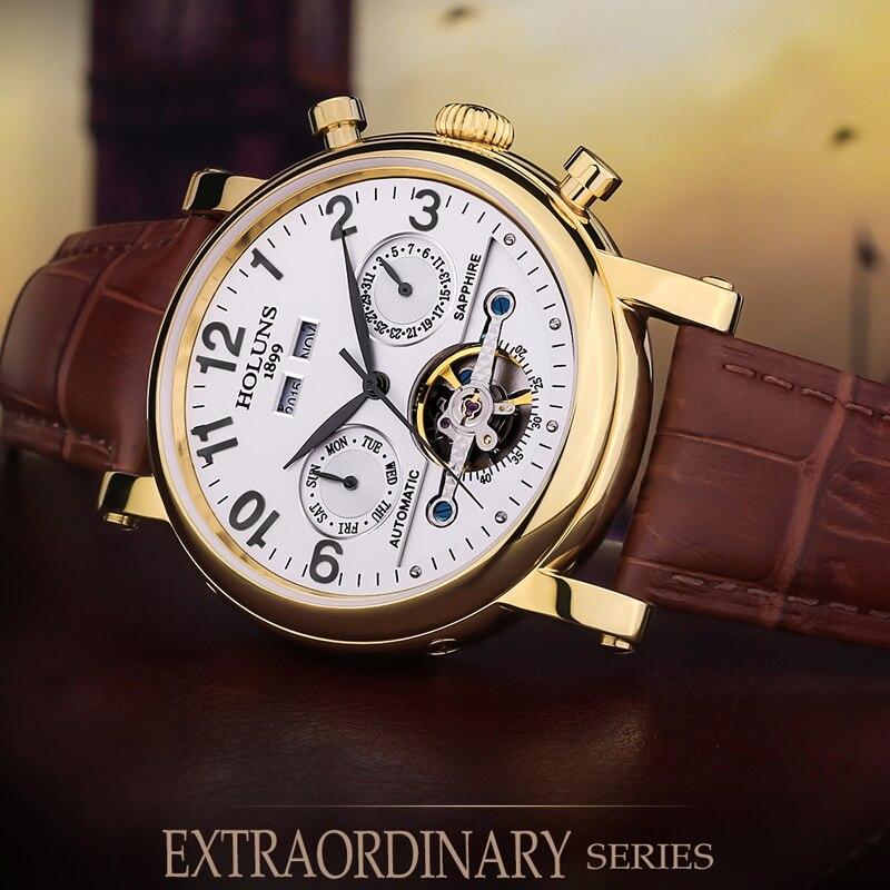 200 m Wasserdicht Männer Uhr Top Marke Luxus Automatische Mechanische Uhr Männer Leder Business Sport Uhren Relogio Masculino-in Mechanische Uhren aus Uhren bei  Gruppe 3