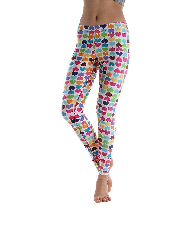 Fitness Leggings Material: Heart Shape Printed Women Fitness Workout Leggings