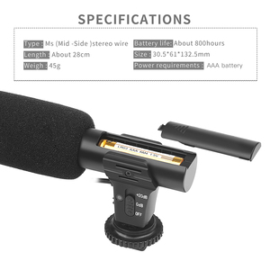 Image 4 - SHOOT 3.5mm zewnętrzny stereofoniczny mikrofon pojemnościowy do aparatu Nikon Canon Sony DSLR Vlogging wywiad nagrywanie wideo mikrofon