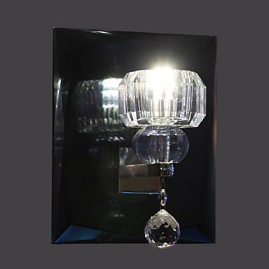 ФОТО 1W Wall Sconces Crystal/LED/Bulb Included Modern/Contemporary Metal With 1 Light, For bedroom living room, Bulb Included