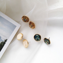 Fashion Jewelry Simply Irregular Shell Stud Earrings For Women Gift