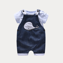 D'été garçon bébé garçon outfit infantile vêtements [T-shirt + Salopette] bebe garçon vêtements