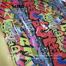HD737 New Arrival Sticker Bomb Vinyl Wrap Film Roll Graffiti Cartoon Car Wrapping Sticker Computer Laptop Skin Motorcyc