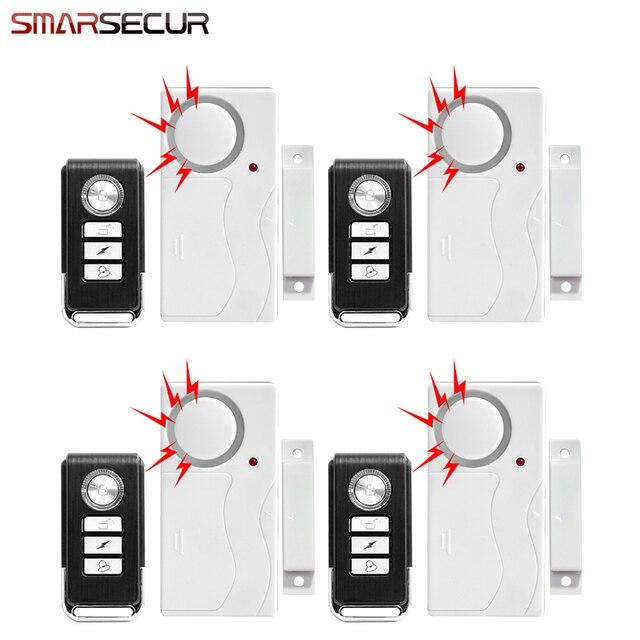 Door alarm system Door Window Entry Security ABS Wireless Remote Control Door Sensor Alarm Host Alarm System Home Protection Kit