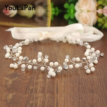 YouLaPan HP159 Bridal Tiara Headband Pearl Wedding Hair Accessories Jewelry Hairband