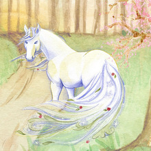 100% Full 5D Diy Daimond Painting White Horse 3D Diamond  Round Rhinestones Diamant Embroidery Gifts