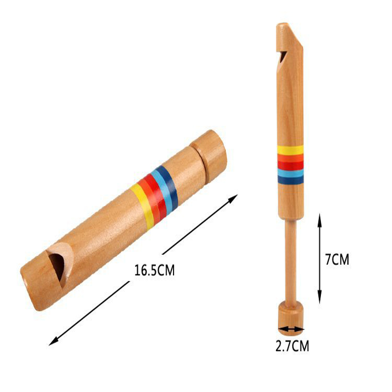 Baby Kids Musical Toys Wooden Drawing Whistles Diacritical Sliding Piccolo Kids Gift Educational Music Instruments For Kids
